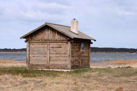 Altholz Fischerei Hütte an der Ostsee  Standard-Bild - 2956479