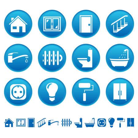 Huis herstelling pictogrammen