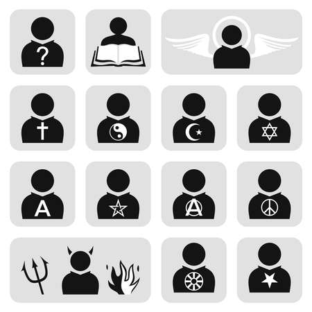 Religious people avatar set Vector