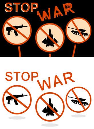 Stop war banner Vector