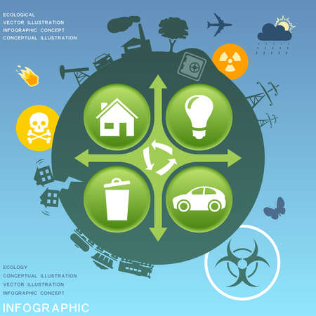 disaster: Ecological infographic design elements