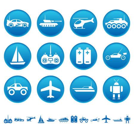 Icônes de jouets de contrôle à distance Banque d'images - 26621381