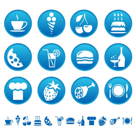 Food and drink icons Stock Illustratie