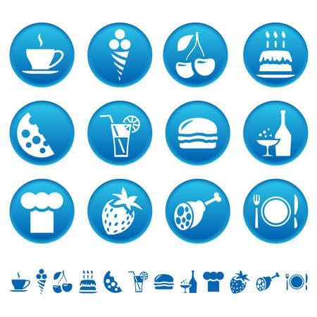 Food and drink icons Ilustracja