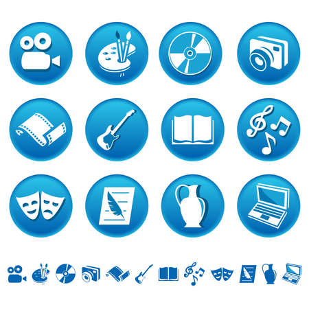 Art and hobby icons Vector