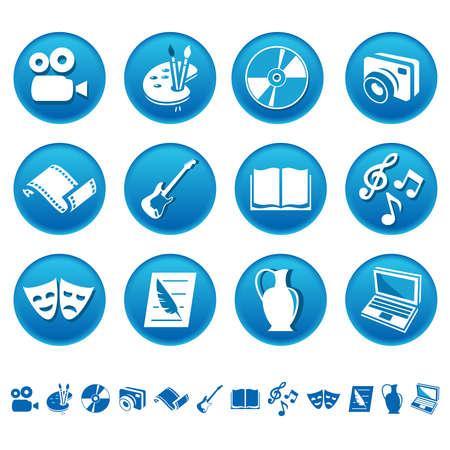 Art et bricolage icônes Banque d'images - 27515386