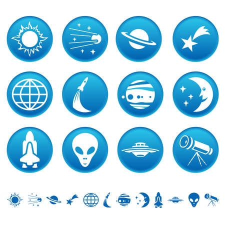 alien clipart: Space symbols