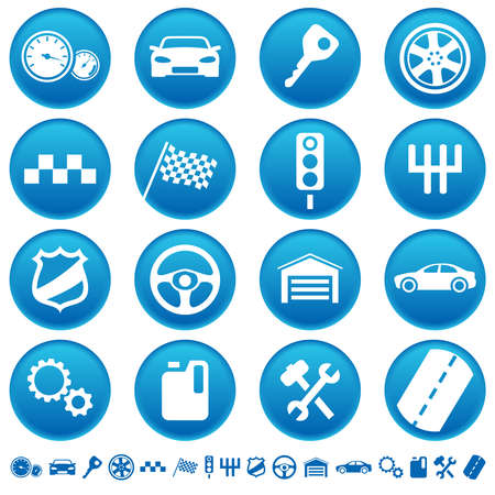 police badge: Auto icons Illustration
