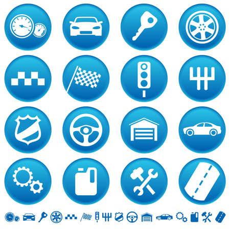 Auto-pictogrammen  Stockfoto - 27901011