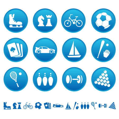 Sport and hobby icons