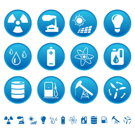 Energy and resource icons Vector