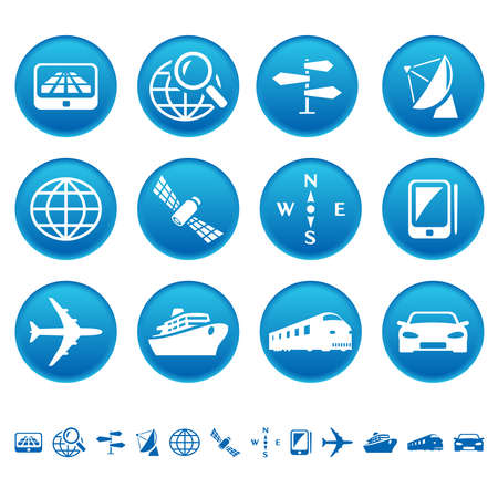 Navigation and transport icons Vector