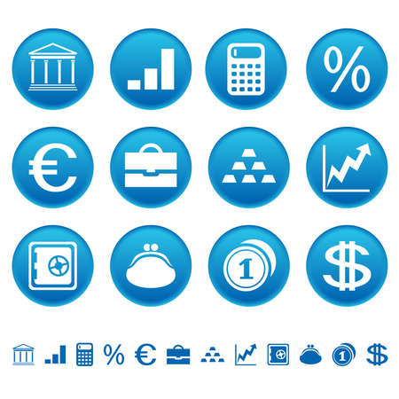 Banks and finance icons Vector