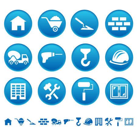 Construction icons Illustration