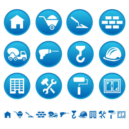 Construction icons Illustration