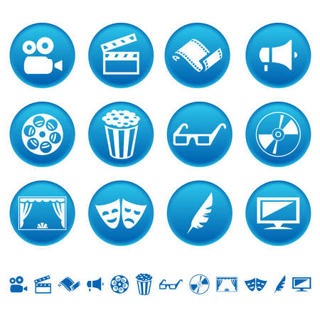 Cinema and theatre icons Vector