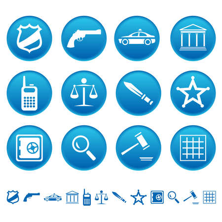 gaol: Law and order icons