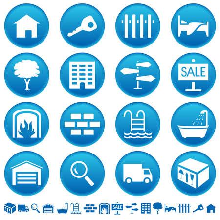 Real estate icons Ilustracja