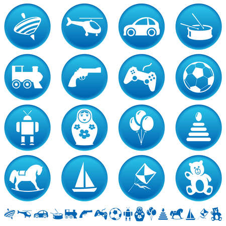 nested: Toys icons Illustration