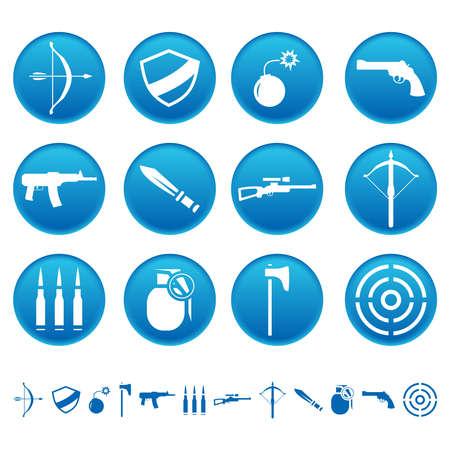 Weapon icons Illustration
