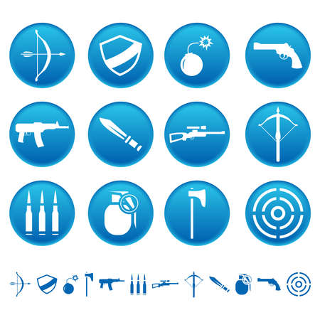 Weapon icons 向量圖像