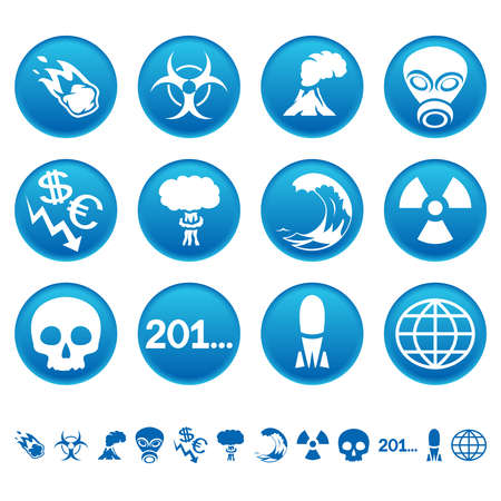 Apocalyptic icons Vector