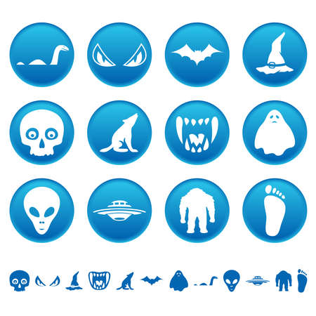 Mysterious icons Vector