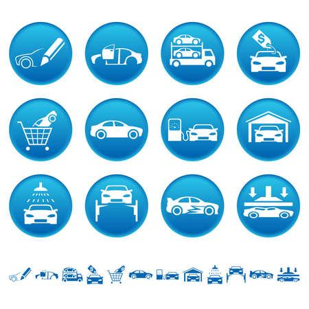 Automotive icons Illustration