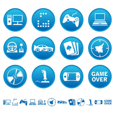 Computer games icons Vector