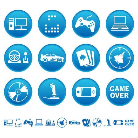 jeu de carte: icônes jeux sur ordinateur Illustration