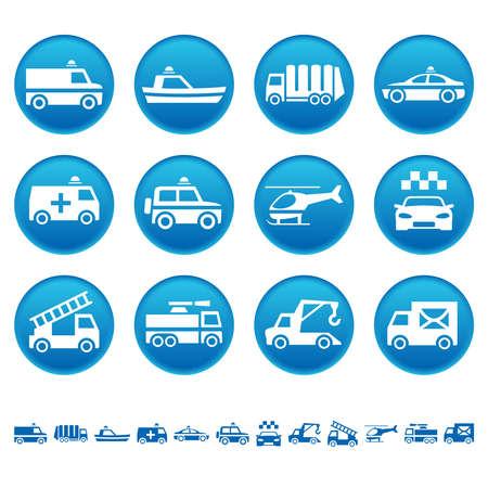 camion de basura: Iconos de transporte especiales