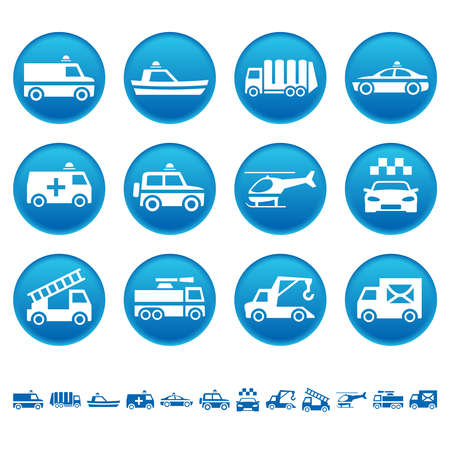offroad car: Special transportation icons