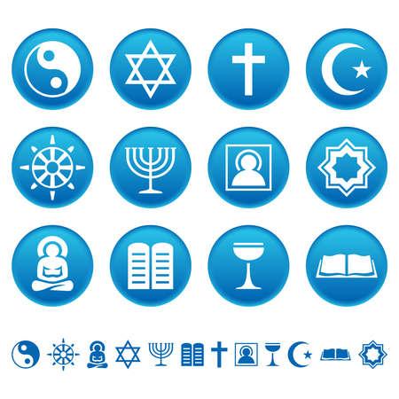 Religion icons Ilustracja