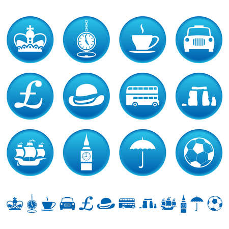 london bus: UK icons Illustration