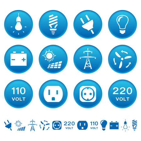 electrical equipment: Electric icons Illustration