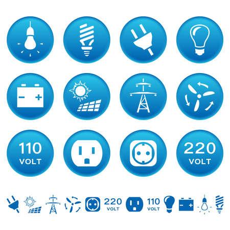 enchufe de luz: Iconos eléctricos