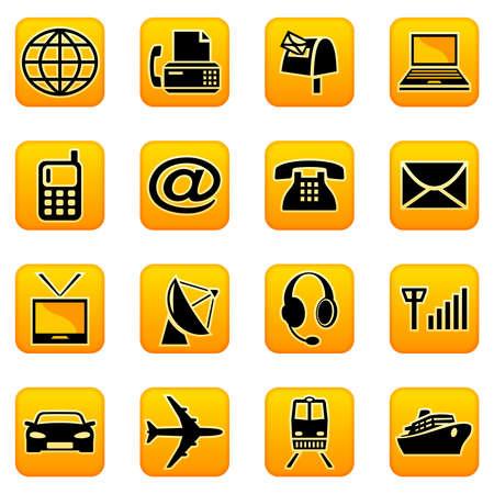 telecoms: Telecomunicazioni e dei trasporti icone