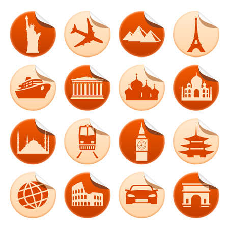 Transportation and sights stickers