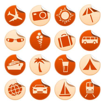 Reizen en toerisme stickers Stockfoto - 29927523