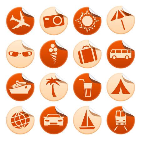 Travel and tourism stickers