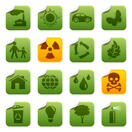 Ecological stickers Vector