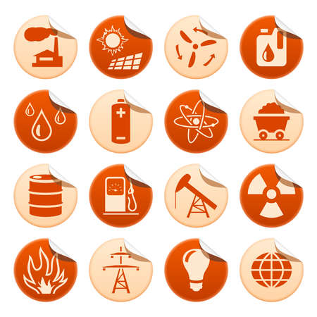 Energy and resource stickers Vector
