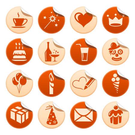 Celebration stickers Vector