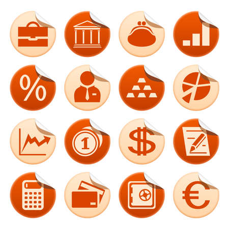 Banks and finance stickers Vector