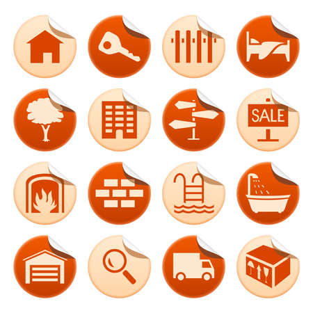 real estate icons: Real estate stickers