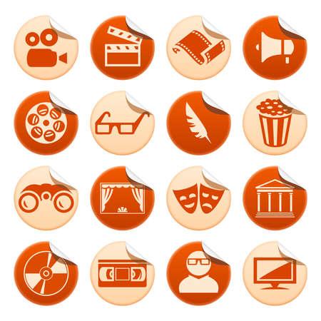 videocassette: Cinema and theatre stickers Illustration