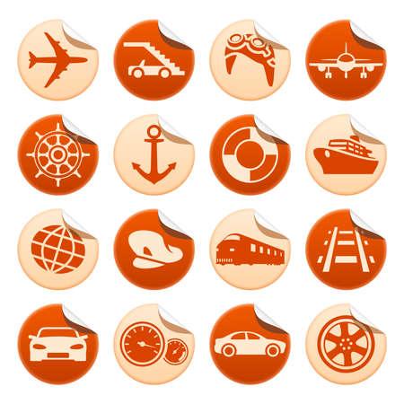 aeronautics: Transportation stickers