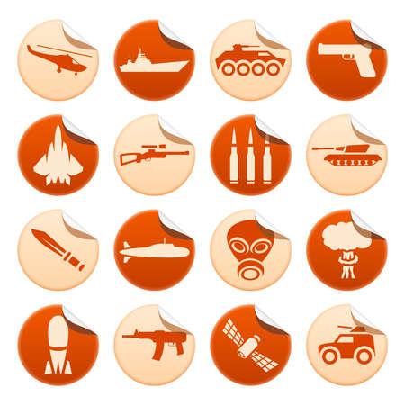 patron: Military stickers Illustration