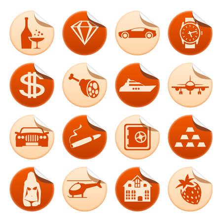 Luxury life stickers Vector