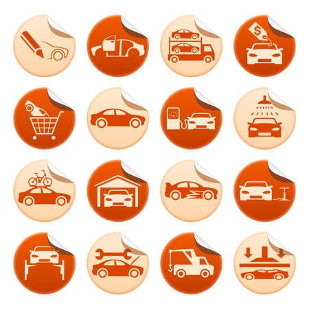 car carrier: Automotive stickers